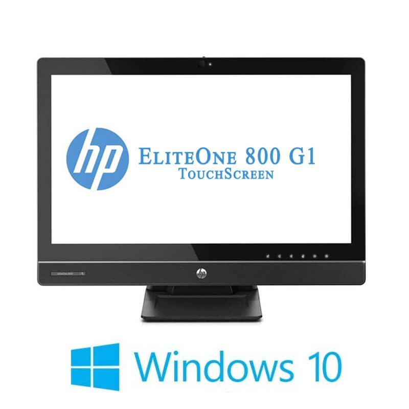 All-in-One Touchscreen HP EliteOne 800 G1, i5-4590S, Full HD IPS, Win 10 Home