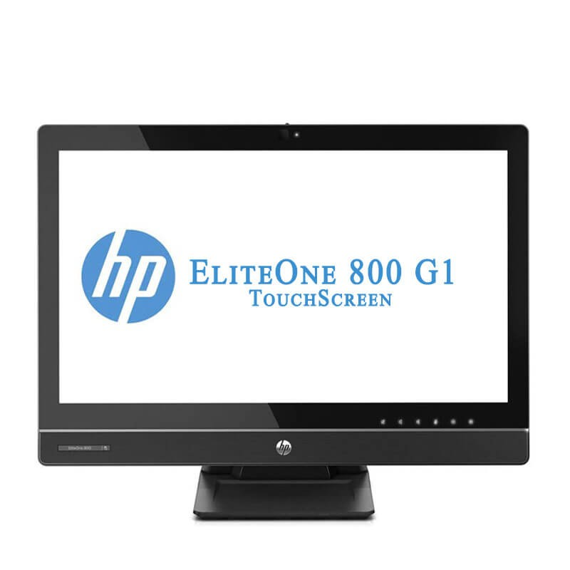All-in-One Touchscreen second hand HP EliteOne 800 G1, Quad Core i5-4590S, 23