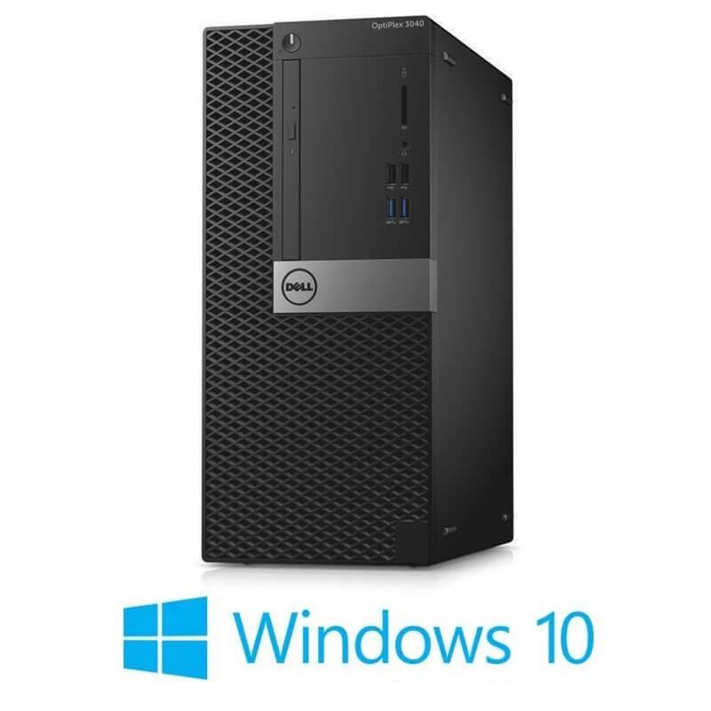 Calculatoare Dell OptiPlex 3040 MT, Quad Core i7-6700T, 240GB SSD NOU, Win 10 Home