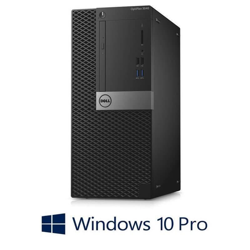 Calculator Dell OptiPlex 3040 MT, Quad Core i5-6500, 240GB SSD NOU, Win 10 Pro