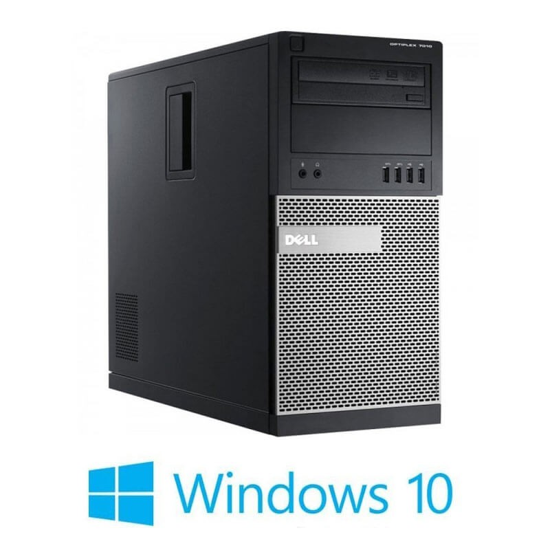 Calculator Dell OptiPlex 7010 MT, Quad Core i5-3470, 120GB SSD NOU, Win 10 Home