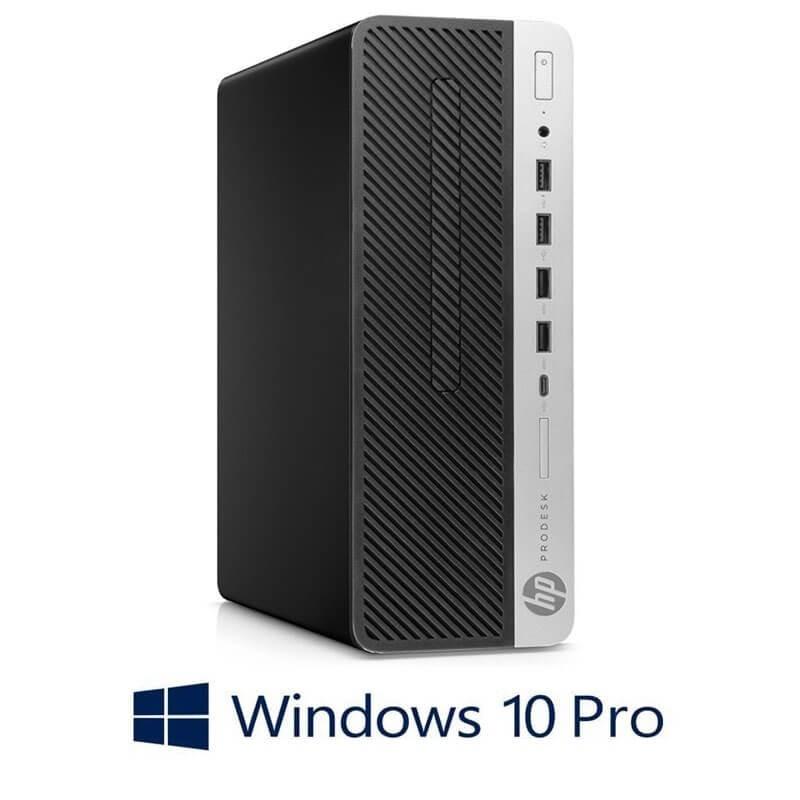 Calculator HP ProDesk 600 G4 SFF, Hexa Core i7-8700T, 120GB SSD NOU, Win 10 Pro