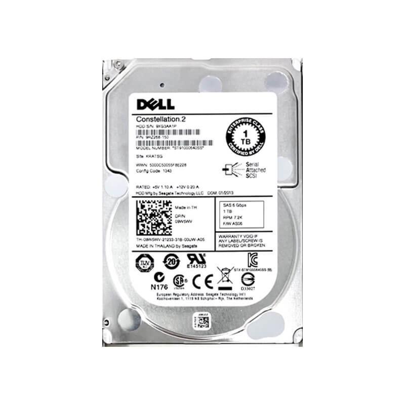 HDD Dell 9W5WV 1TB SAS 6Gbps 2.5 inci, 7.2K RPM, 64 Mb Cache
