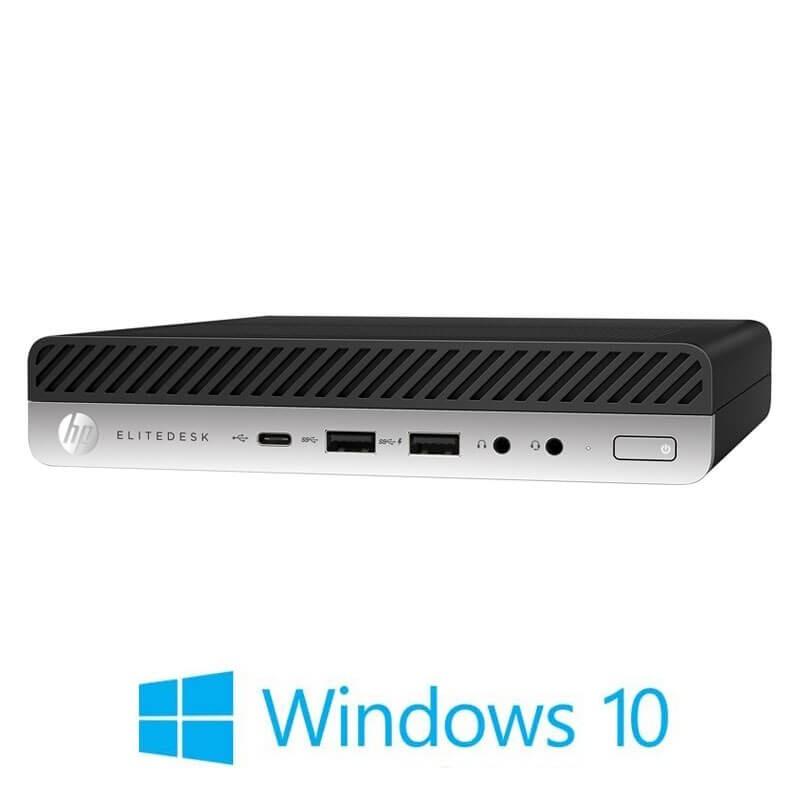 Mini Calculatoare HP EliteDesk 800 G3, Quad Core i5-7600, 256GB SSD M.2, Windows 10 Home