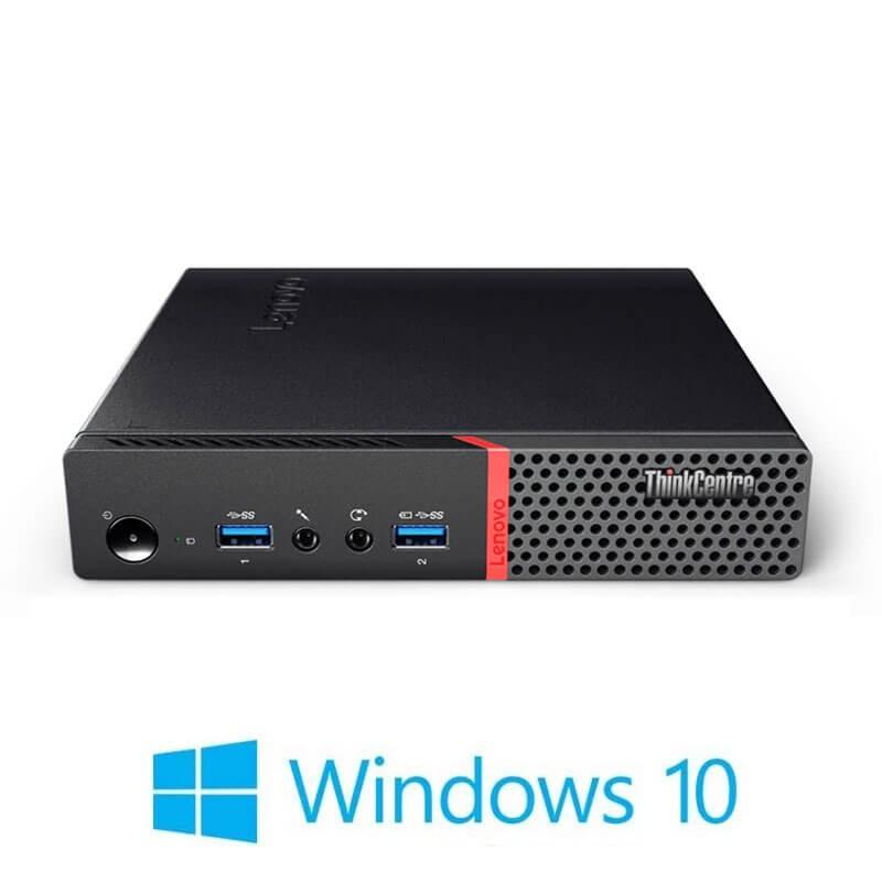 Mini Calculatoare Lenovo ThinkCentre M900, Quad Core i7-6700T, 512GB SSD, Win 10 Home