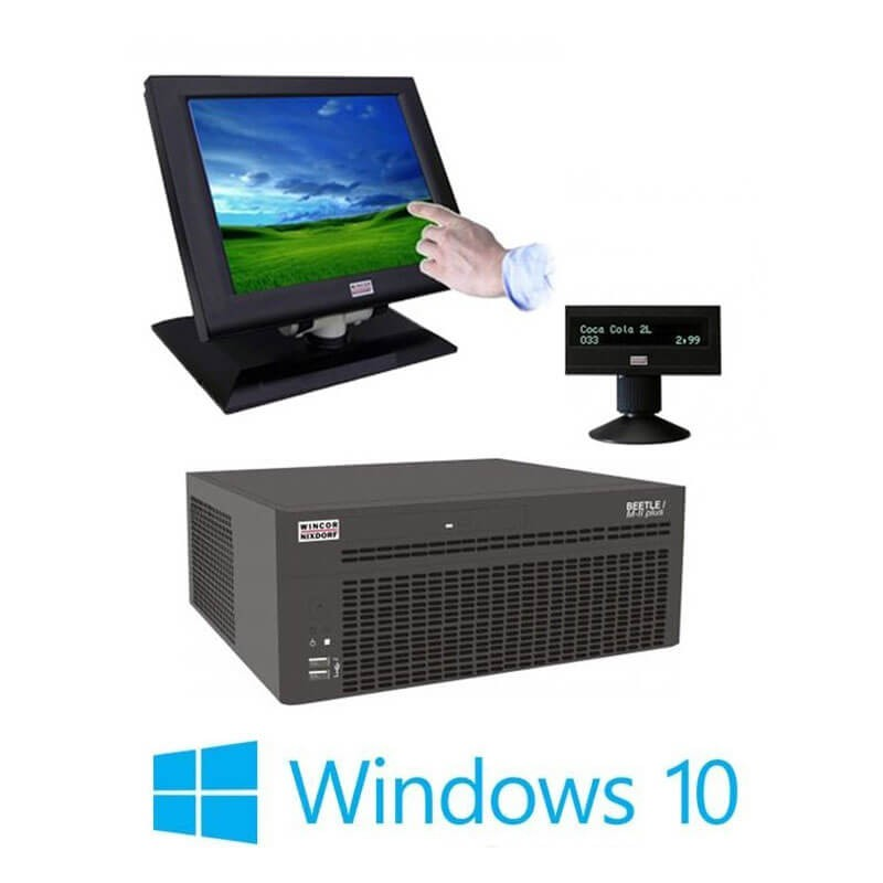Sisteme POS Refurbished Wincor Beetle M-II Plus G41, Touch BA73A-2, Display Client, Win 10 Home