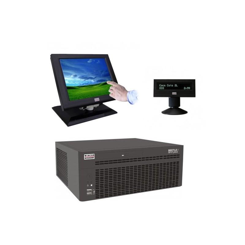Sisteme POS Wincor Beetle M-II Plus G41, Touchscreen BA72 12 inci, display client BA63